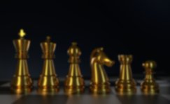 jeu d'échecs en or représentant l'or comme actif d'investissement stratégique en 2021