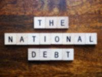 US national debt representation