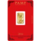 5 gram Fine Gold Bar 999.9 - PAMP Suisse Lunar Monkey