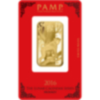 1 oz Fine Gold Bar 999.9 - PAMP Suisse Lunar Monkey