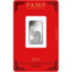 10 gram Fine Silver Bar 999.0 - PAMP Suisse Lunar Rooster
