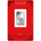 10 Gramm FeinSilberbarren 999.0 - PAMP Suisse Lunar Hahn