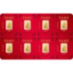 8x1 grammo multigrammo lingottino d'oro puro 999.9 - PAMP Suisse Lunar nCane
