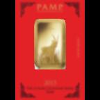 1 Unze FeinGoldbarren 999.9 - PAMP Suisse Lunar Ziege
