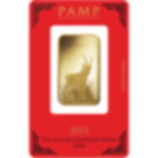 1 oncia lingottino d'oro puro 999.9 - PAMP Suisse Lunar Capra