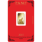 5 Gramm FeinGoldbarren 999.9 - PAMP Suisse Lunar Ziege