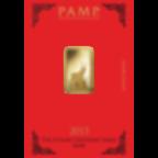 5 grammi lingottino d'oro puro 999.9 - PAMP Suisse Lunar Capra