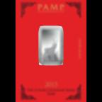 10 grammi lingottino d'argento puro 999.0 - PAMP Suisse Lunar Capra
