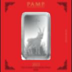 Lingotin d'argent de 100 grammes pur 999.0 - PAMP Suisse Lunar Chèvre