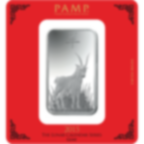 100 Gramm FeinSilberbarren 999.0 - PAMP Suisse Lunar Ziege