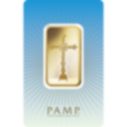 1 oz Fine Gold Bar 999.9 - PAMP Suisse Romanesque Cross