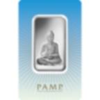 Lingotin d'argent de 1 once pur 999.0 - PAMP Suisse Bouddha