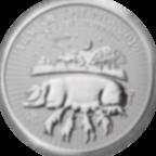 1 Unze FeinSilbermünze 999.0 - Lunar Jahr des Schweins BU 2019