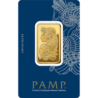 2 tolas lingotin d'or pur 999.9 - PAMP Suisse Lady Fortuna Veriscan