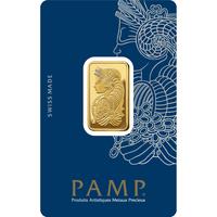 1 tola lingotin d'or pur 999.9 - PAMP Suisse Lady Fortuna Veriscan