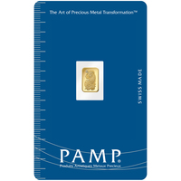 0,5 gramme lingotin d'or pur 999.9 - PAMP Suisse Lady Fortuna