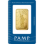 1 once lingotin d'or pur 999.9 - PAMP Suisse Liberty