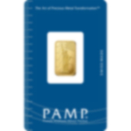 5 gram Fine Gold Bar 999.9 - PAMP Suisse Liberty