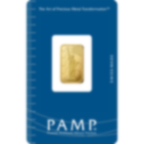 2,5 grammes lingotin d'or pur 999.9 - PAMP Suisse Liberty