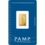 2,5 Gramm FeinGoldbarren 999.9 - PAMP Suisse Liberty