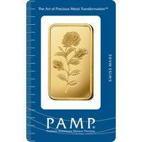 100 gram Fine Gold Bar 999.9 - PAMP Suisse Rosa