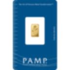 1 Gramm FeinGoldbarren 999.9 - PAMP Suisse Rosa