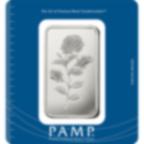 Lingotin d'argent de 100 grammes pur 999.0 - PAMP Suisse Rosa