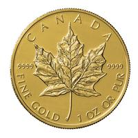 1 once pièce d'or pur 999.9 - Maple Leaf Année aléatoire