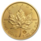 1 oncia moneta d'oro puro 999.9 - Maple Leaf BU Anni Misti