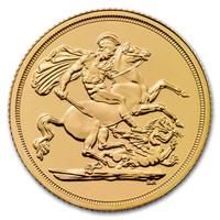 Pièce d'or pur 916.7 - Souverain Elizabeth BU Années Mixtes