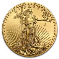 1 oz Fine Gold Coin 916.7 - American Eagle BU Mixed Years