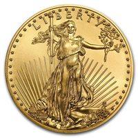 1 once pièce d'or pur 916.7 - American Eagle BU Années Mixtes