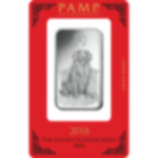 1 oz Fine Silver Bar 999.0 - PAMP Suisse Lunar Dog