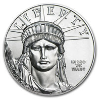 1 oz Fine Platinum Coin 999.5 - American Eagle BU Mixed Years