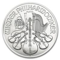 1 oz Fine Platinum Coin 999.5 - Philharmonic BU Mixed Years