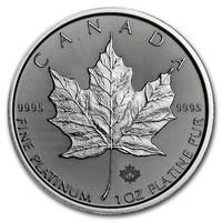 1 Unze FeinPlatinmünze 999.5 - Maple Leaf BU Gemischte Jahre