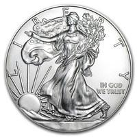 1 once pièce d'argent pur 999.0 - American Eagle BU Années Mixtes