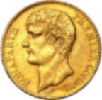 Fine Gold Coin 900.0 - 40 Francs Napoléon Bonaparte Premier Consul An XI