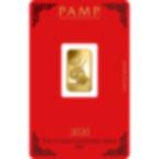 5 grammes lingotin d'or pur 999.9- PAMP Suisse Lunar Rat
