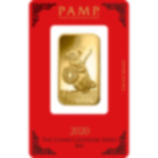 1 oz Fine Gold Bar 999.9 - PAMP Suisse Lunar Rat