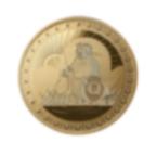 1/4 once lingot circulaire d'or pur 999.9 - Édition QoQa