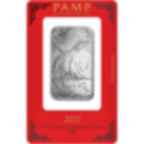 Comprare 1 oncia lingottino d'argento puro 999.0 - PAMP Suisse Bue Lunare