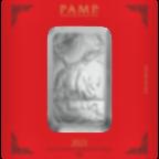 Comprare 100 grammi lingottino d'argento puro 999.0 - PAMP Suisse Bue Lunare
