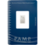 1 grammo lingottino di platino puro 999.5 - PAMP Suisse Lady Fortuna