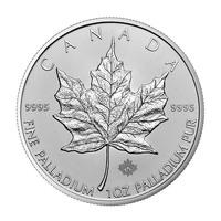 1 once pièce de palladium - Maple Leaf Année aléatoire