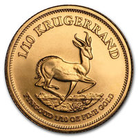 1/10 oz Fine Gold Coin 916.7 - Krugerrand Mixed Years