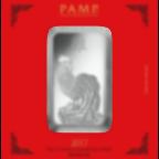 100 Gramm FeinSilberbarren 999.0 - PAMP Suisse Lunar Hahn