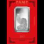 1 oz Fine Silver Bar 999.0 - PAMP Suisse Lunar Rooster