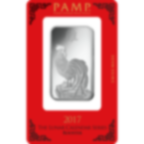 1 Unze FeinSilberbarren 999.0 - PAMP Suisse Lunar Hahn