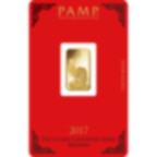 5 Gramm FeinGoldbarren 999.9 - PAMP Suisse Lunar Hahn